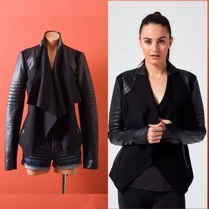 Blanc Noir Drape Front Black Jacket S